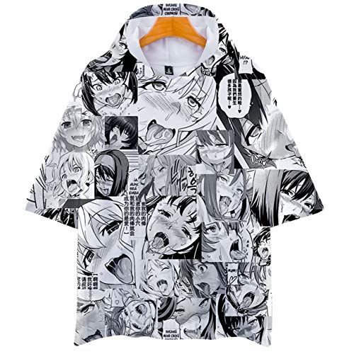 Men's 3D Print Ahegao Anime Face Shirt Couple Funny Short Sleeve T-Shirt Cosplay Adult Tops Face 6 3XL