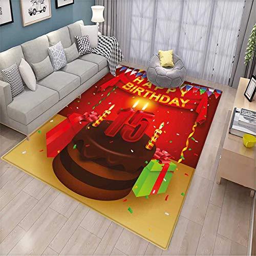 15th Birthday Room Home Bedroom Carpet Floor Mat Teenage Par