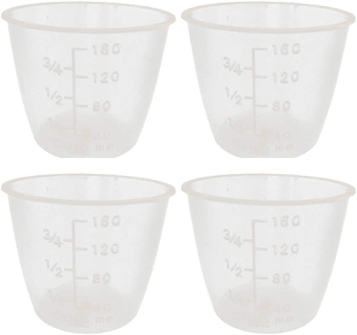 Useful 10 Pcs Food Grade Plastic Rice Measuring Cup Rice Cooker Measurement Tools for Dry and Liquid Ingredients (160ml)
