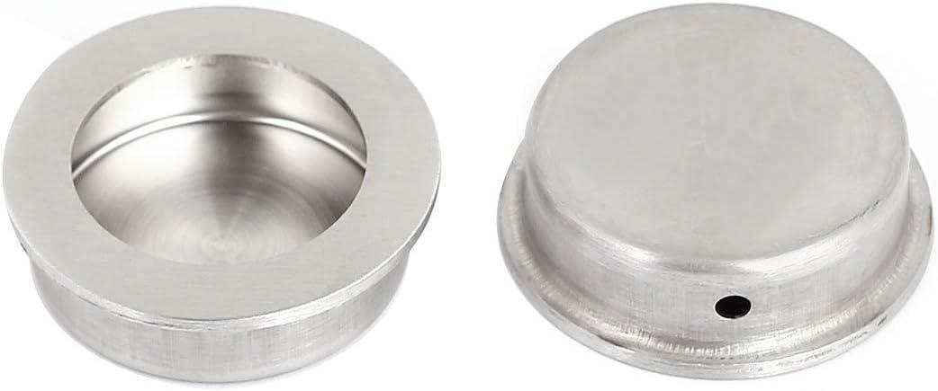 Corredera 40 mm cajón de la puerta redonda empotrada al ras y jalar la manija 2pcs