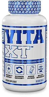 VITA XT Multivitamin for Men - Elite Daily Mens Multivitamin Supplement with Chelated Minerals & Vitamins - 60 Veggie Capsules