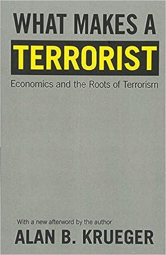 What Makes A Terrorist Economics And The Roots Of Terrorism New Edition Alan B Krueger 9780691138756 Amazon Com Books