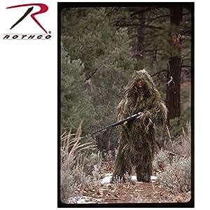 Rothco Bushrag Ultralight Ghillie Jacket and Pants in Woodland - Medium / Large