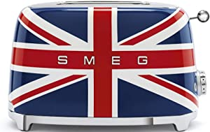 Smeg 1950's Retro Style Aesthetic 2 Slice Toaster, Union Jack Design (British Flag)