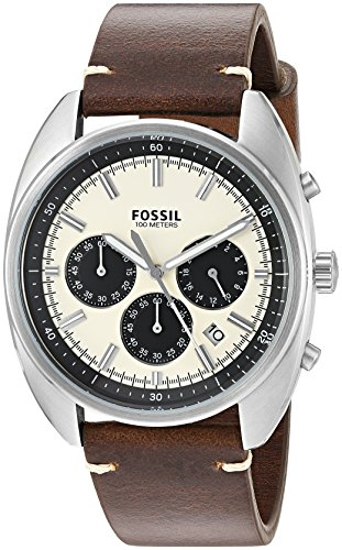 Fossil Men's Quartz Stainless Steel and Leather Watch, Color:Brown (Model: CH3044)