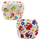 Z-Chen 2 Pack of Baby Reuseable Washable Swim Diapers, Color B