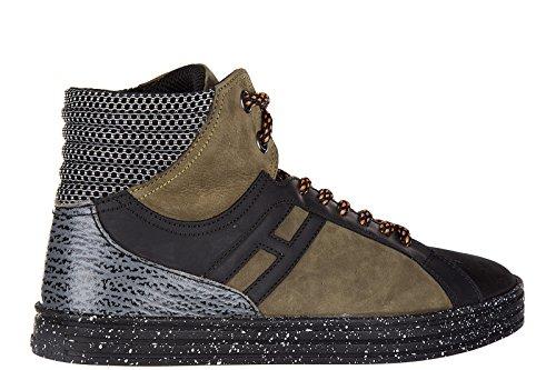 Hogan Rebel zapatos zapatillas de deporte largas hombres en piel nuevo R141 bask