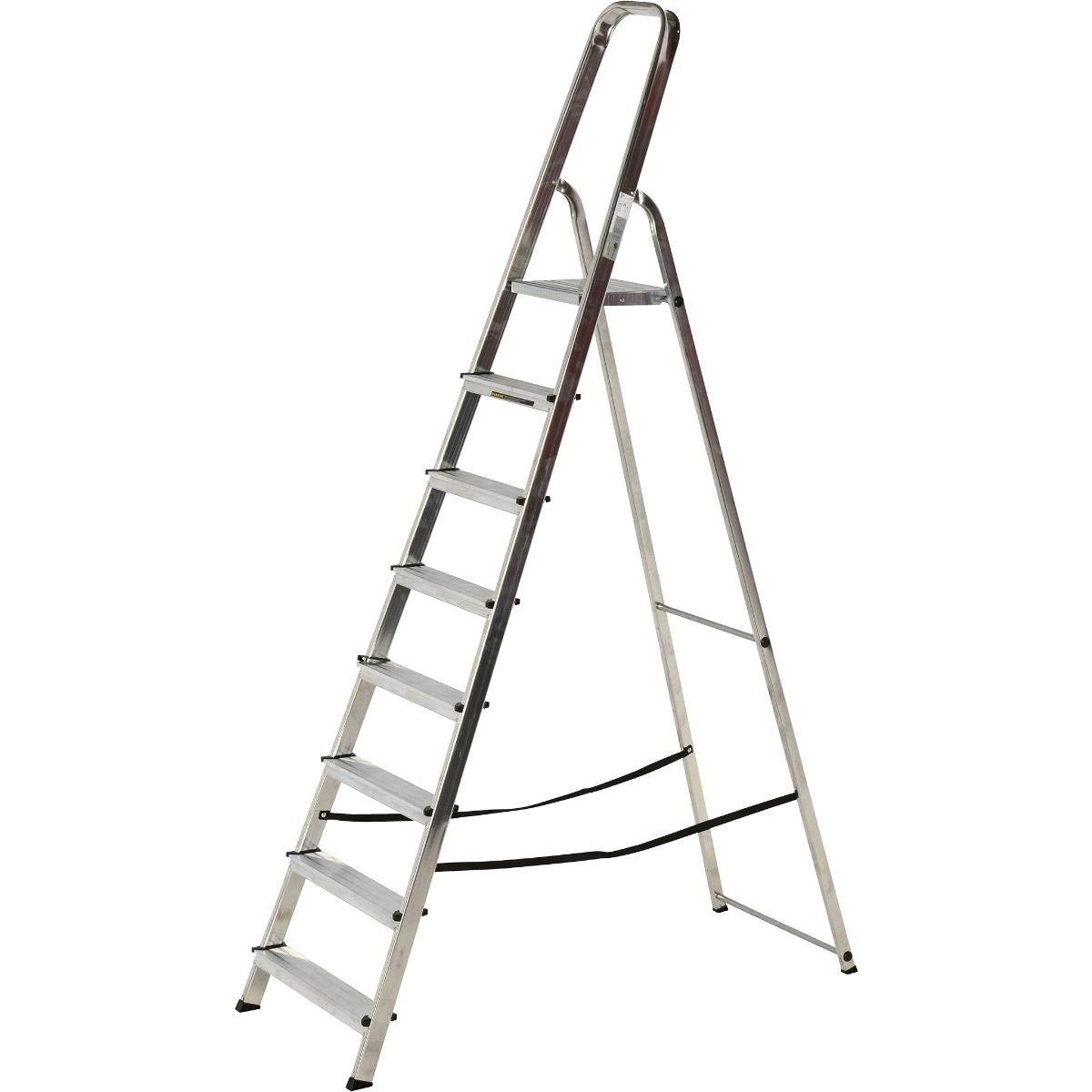 5 Tread Aluminium Step Ladder Class 1 Folding Industrial Trade Youngman Heavy Duty Steps