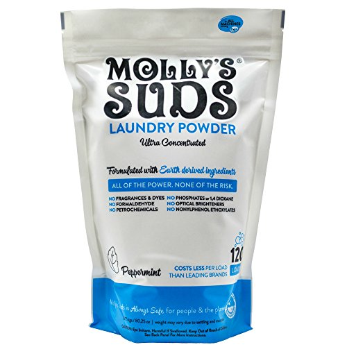 Molly's Suds Original Laundry Detergent Powder 120 load, Natural Laundry Soap for Sensitive Skin (Best Natural Laundry Detergent For Cloth Diapers)