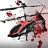 Protocol Tough Copter II   3.5 Channel RC with Gyro Stabilizer for Quick Response and Control, Durable Alloy Frame for Resistance from Rough Landings and Crashes, Colorful Tail lights & LED Spotlight
