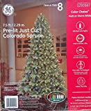 GE 7.5-ft Pre-lit Colorado Spruce Artificial Christmas Tree with 500 Color Changing LED Lights