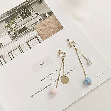 0289052e8a19 BAOZIV587 Aretes Cristal Moda Aretes asimétricos de temperamento longitud  de cadena de oreja 耳 clip de oreja chica