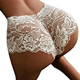 Hongxin Hot Sale Sexy Girl High Waist G-String Brief Pantie Thong Lingerie Knicker Lace Flower Underwear Clearance Romantic Gift (XL, White)