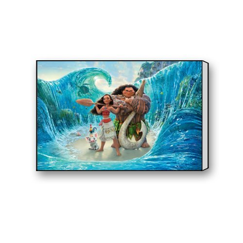 "Scottshop Custom Moana Movie Gallery Wrapped Canvas Print 18 ""x 12"" Inch - Stretched and Framed Ready to Hang Bedroom / Living Room Decorations Canvas Wall Art"