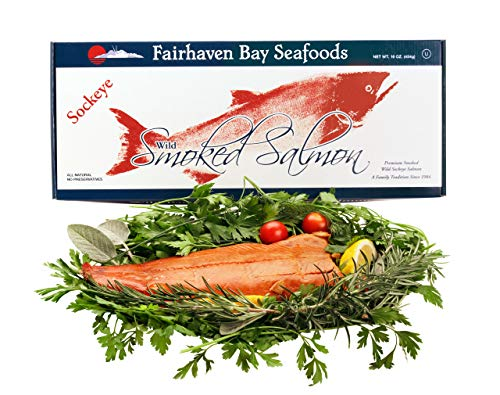 Alaska Smoked Salmon, Sockeye, Wild, 16 Oz. Filet