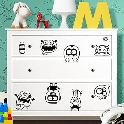 Grandora W5227 Adesivo Murale Monster Adatto A Ikea Hemnes