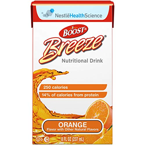 Boost Breeze Orange Flavor 8 oz. Carton Ready to Use, 10043900186204 – Sold by: Pack of One