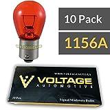 (10 Pack) 1156A 1156NA 1156 Amber Automotive Brake Light Turn Signal Side Marker Light Bulb - Voltage Automotive