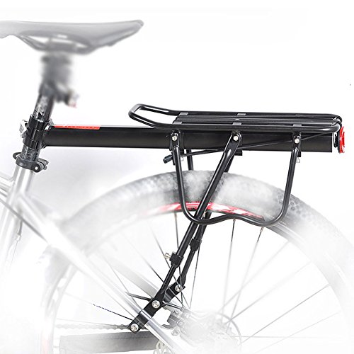 YAH Whole Quick Release Aluminum Alloy Bicycle Rear Rack 50KG Rear Seat Luggage Carrier Shelf MTB Cycling Rack Road Mountain Bike Cargo Racks
