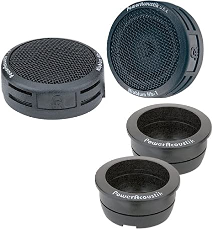 """NEW POWER ACOUSTIK NB-2 1/"""" 200W FLUSH-MOUNT CAR DOME TWEETERS BUILT IN CROSSOVER"""