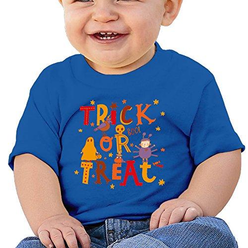 Halloween Fun Graphic Baby O-neck Tee Cotton RoyalBlue Size 6 M