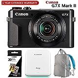 PowerShot G7 X Mark II 20.1MP Digital Camera w/Canon IVY Photo Printer & Deco Gear Camera Backpack Bundle