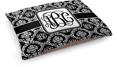 Mom Innovations Monogrammed Damask Dog Pillow Bed (Person...