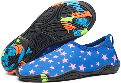 91005e273b4e eslla Kids Water Shoes Slip-on Quick Drying Boys Girls Beach Swimming Water  Sports Aqua