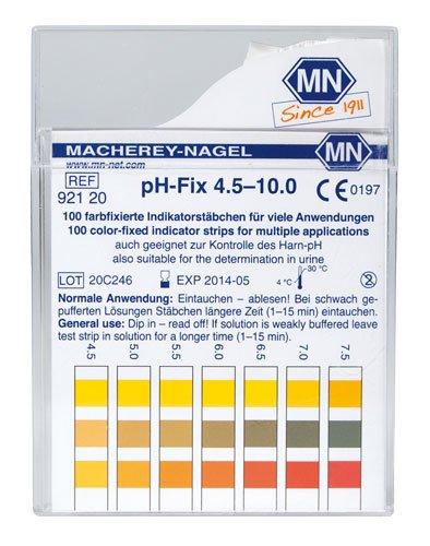 Macherey-Nagel, 92120, pH-Fix 4.5-10, Box of 100 Strips