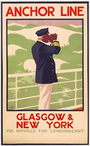Vintage White Star Line New York Cruise Poster  A3//A2 Print