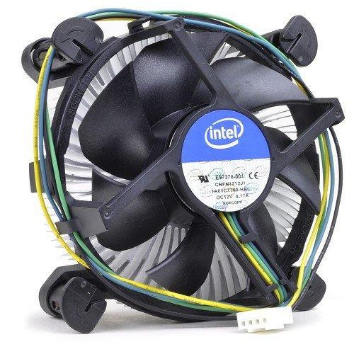 Intel Core i3 / i5 / i7 Socket 1150 / 1151 / 1155 / 1156 4-Pin Connector CPU Cooler With Copper Core Base & Aluminum Heatsink & 3.5-Inch Fan For Desktop PC Computer (TS1) (Cooling Fan For Intel Core I7)