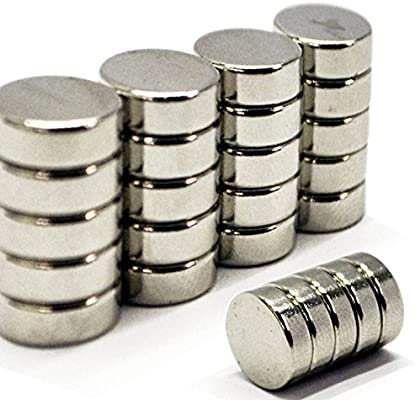 efeel/® 13mm x 3mm 10 0.51inch Length Diameter x 0.12inch Thickness Rare Earth Cylinder Disc Magnets