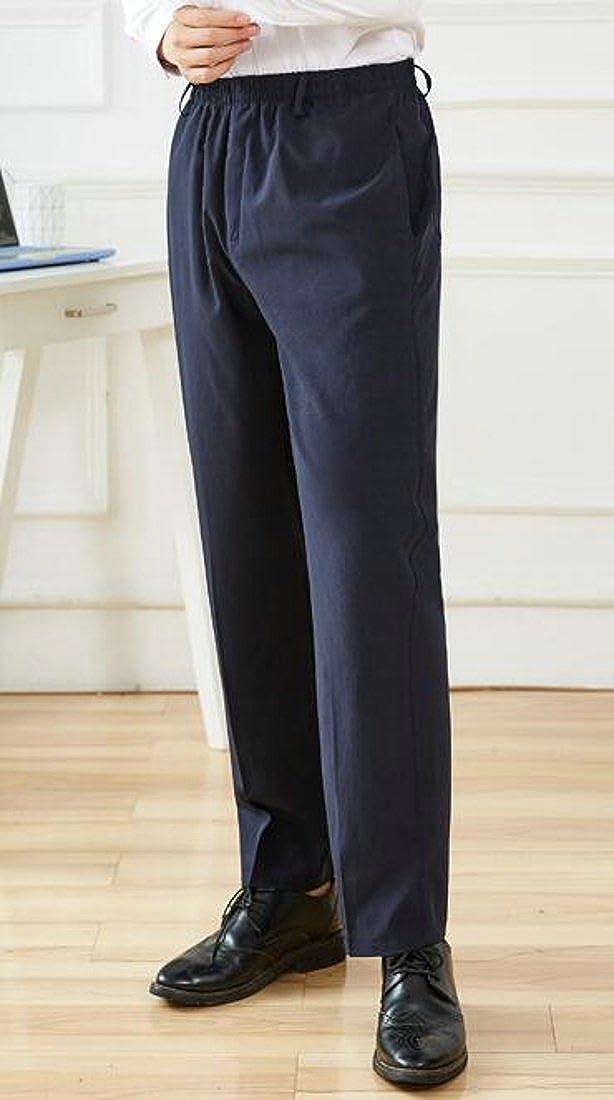 Big Tang Mens Big and Tall Pul Onl Elastic Waist Casual Lounge Basic Pants