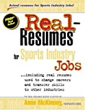 Real-Resumes for Sports Industry Jobs, , 1885288417