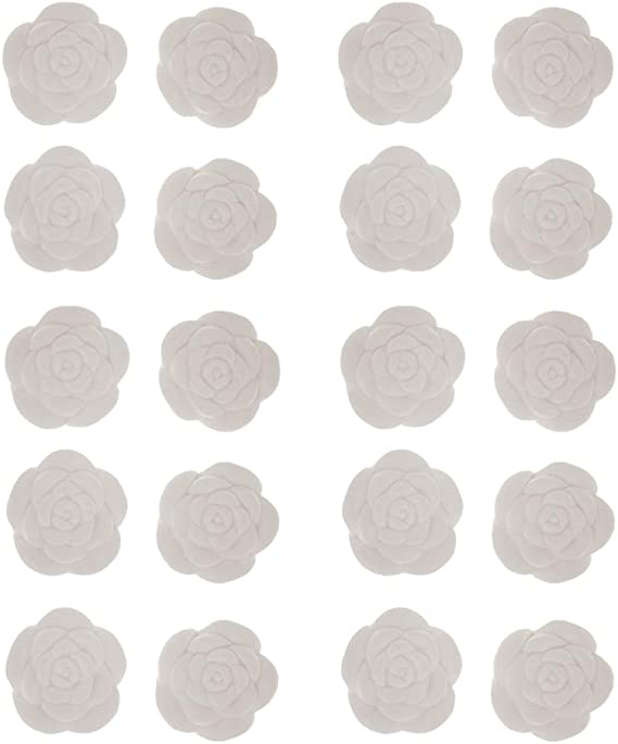 20パックホワイトフラワーアロマエッセンシャルオイルディフューザー香水ストーンパーティーギフト