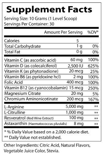 Fenix Nutrition - FNX L-Arginine Complete - Cardio Health Formula - Contains L-Citrulline - Enhance Effects Of Nitric Oxide - Secret Weapon For Libido - Mixed Berry - 3 Jars by Fenix Nutrition (Image #1)