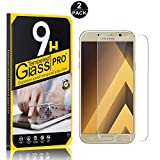 Galaxy A3 2017 Tempered Glass Screen Protector, UNEXTATI® 9H Hardness Screen Protector Film