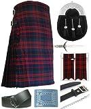 Mens Macdonald Modern Tartan 7 Piece Full Dress Kilt Outfit Size: 34'' - 36''