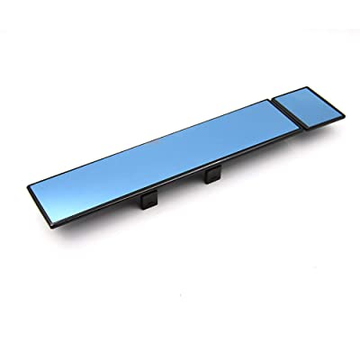 "PME Rear View Mirror, Universal Car Truck Mirror Interior Panoramic Wide Angle Mirror Removable (Blue Convex Mirror, 14.6"" / Clip-on): Automotive"