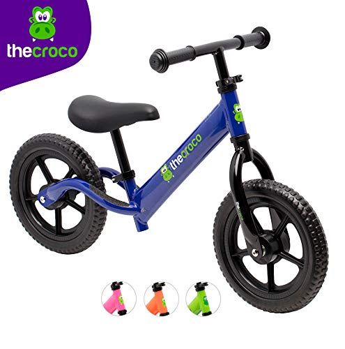 TheCroco Lightweight Balance Bike for Toddlers and Kids (Blue)