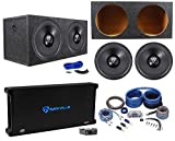 (2) Rockville W15K6D2 V2 15' 8000w Subwoofers+Sealed Box+Mono Amplifier+Amp Kit