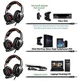 Sades SA920 PS4 Gaming Headset Headphone Over Ear