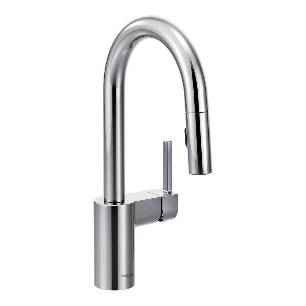 Moen 5965 Align One-Handle High-Arc Pulldown Bar Faucet, Chrome