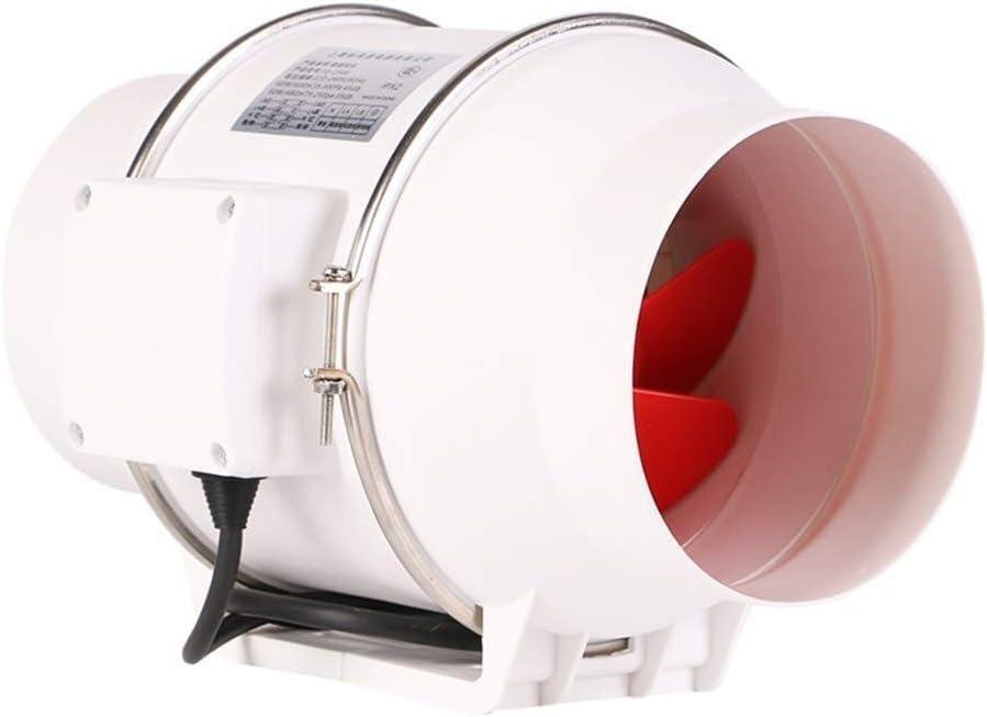 Yyl Extractor de ventilación de Escape del conducto Redondo Ventilador silencioso Ventilador axial Cocina Baño Ventilación de la Salida de Escape Volumen: 480-600m3 / h