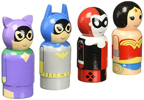 Bif Bang Pow! Heroines of DC Pin Mate Wooden Figure Set of 4 Action Figure -