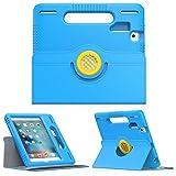 iPad Mini 1 / 2 / 3 / 4 Case - MoKo Kids Shock Proof Convertible Handle Light Weight Protective Stand Cover with 360 Degree Rotating for Apple iPad Mini 4 / Mini 3 Mini 2 /Mini 1 7.9 Inch Tablet, BLUE