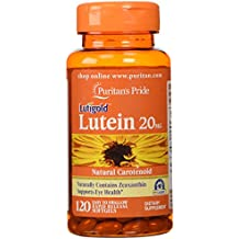 Puritan's Pride Lutein 20 mg with Zeaxanthin-120 Softgels