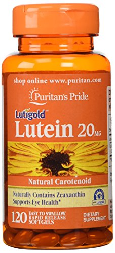 Puritans Pride Lutein 20 mg with Zeaxanthin-120 Softgels