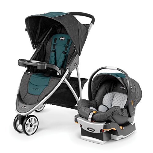 Chicco Viaro Quick-Fold Travel System, Verdant