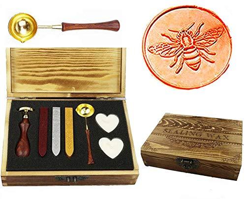 MNYR Vintage Bee Sealing Wax Seal Stamp Kit